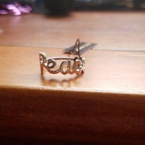 """Henri Bendel """"Peace"""" Ring, sz 8"""